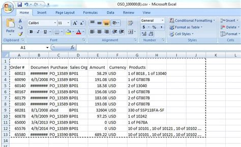 csv format salesforce contenttype csv created with first row as empty any