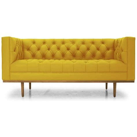 yellow loveseat yellow leather sofa divani casa daffodil modern yellow