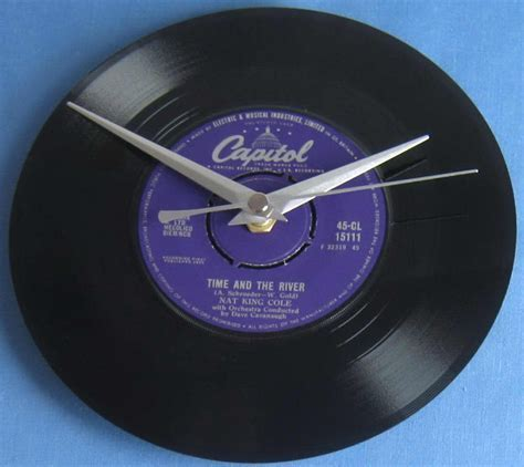 Nat King Cole Vinyl Record Clock Time And The River single