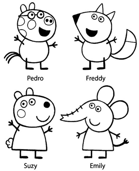 peppa pig coloring pages printable pdf peppa colouring page 22 to print or download for free