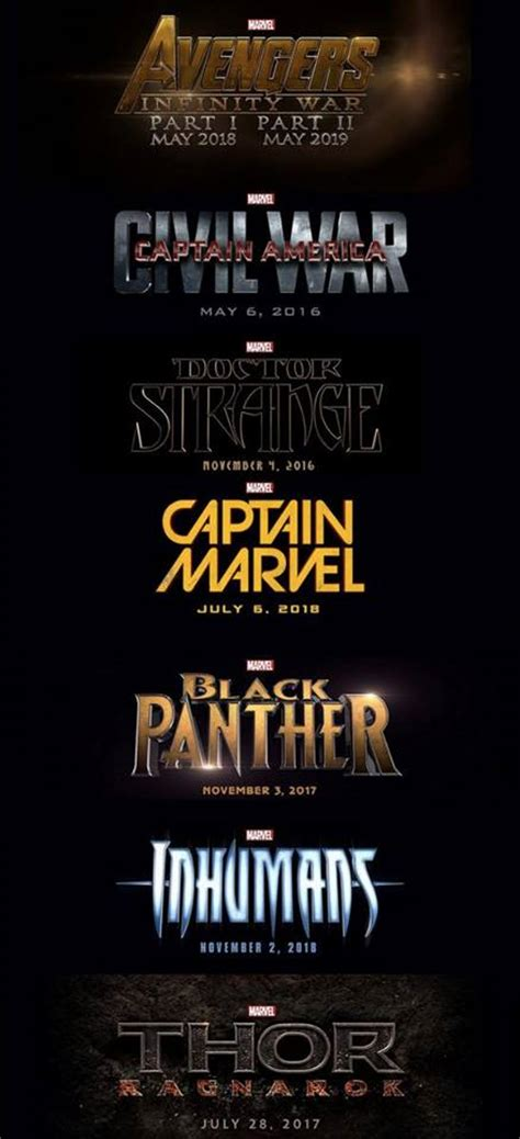 marvel film chronology it s official marvel unveils phase 3 of cinematic