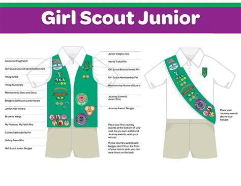 scout junior sash diagram official scout casual adventure