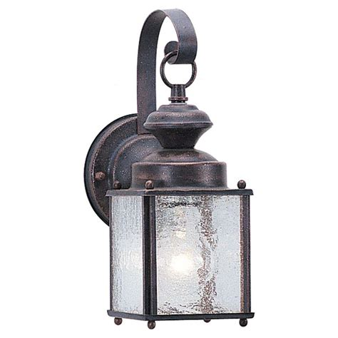 Sea Gull Lighting Fixtures Sea Gull Lighting Hunnington 1 Light Outdoor Weathered
