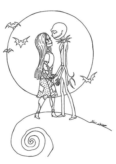 17 Best Images About Coloring Nightmare Before Christmas Before Coloring Pages