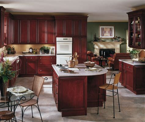 kitchen cabinets maroon quicua - Burgundy Kitchen