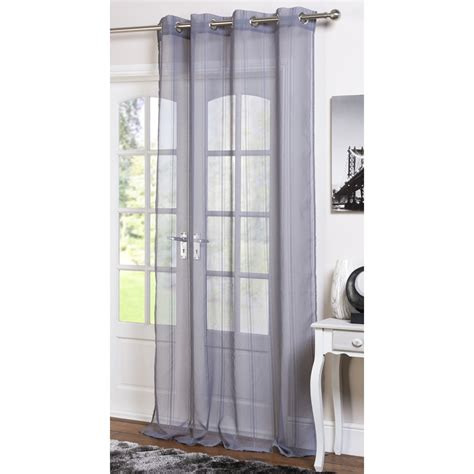 the range voile curtains chenille stripe eyelet voile