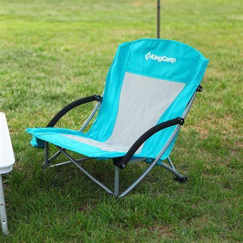 kingc lightweight folding beach chair cup holder