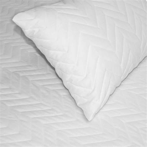bed pillow protectors quilted mattress protector kolnicks linen