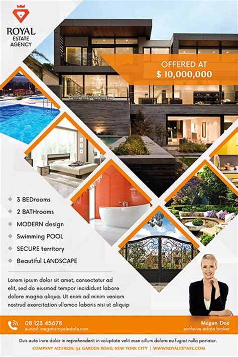 2017 latest real estate designs real estate multipurpose free flyer template best of flyers
