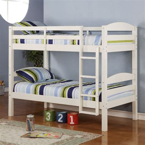 twin bunk bed for kids converts to two solid wood guard rails ladder espresso ebay 5 types of bunk beds you must learn about interior design