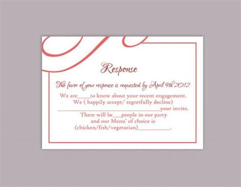 wedding card text template diy wedding rsvp template editable text word file