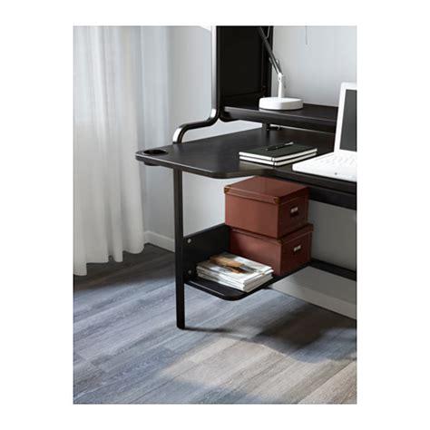Black Computer Desk Ikea Fredde Workstation Black 185x140x74 Cm Ikea