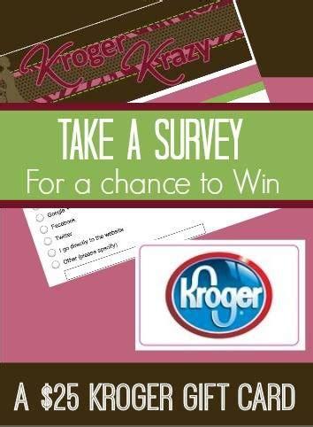 Kroger Gift Card List - please take my reader survey and enter to win a 25 kroger gift card kroger krazy