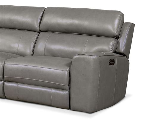 Newport 3 Piece Power Reclining Sectional With Left Facing Reclining Sectional Sofa With Chaise