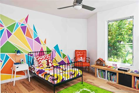 multi colored walls 1960 s ranch style home in austin gets a colorful light