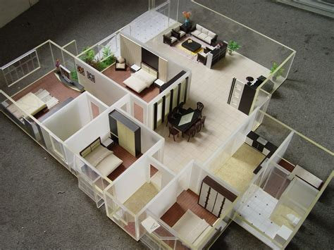 house plan layout model with all furniture scale