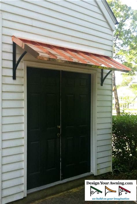 copper awning over door the classic gallery copper awnings projects gallery