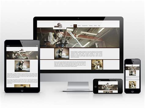 Handmade Website Design - responsive web design for a custom concrete company