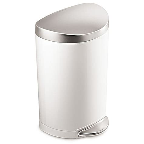 simplehuman bathroom trash can simplehuman 174 stainless steel semi round 10 liter step on