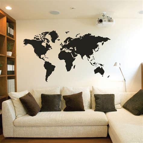 wall sticker world world map wall stickers vinyl decals ebay