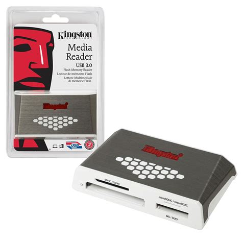 Kingston Usb 30 High Speed Media Reader Fcr Hs4 Murah kingston usb 3 0 fast media memory card reader fcr hs4 with usb cable ebay