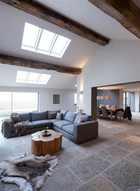 cheshire barn renovation extension contemporary living room manchester  llama group