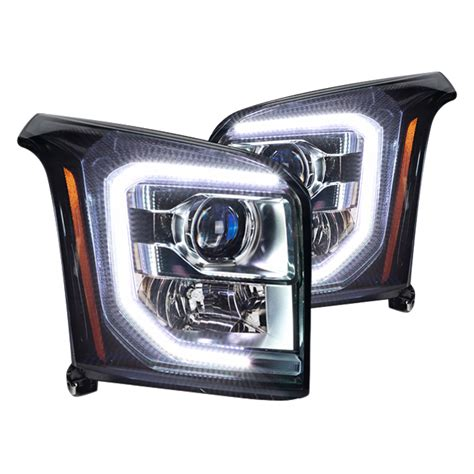 color changing led headlights oracle halo lights for gmc yukon 2015 2016 gmc yukon