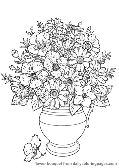 realistic flower coloring page realistic flower coloring pages only coloring pages