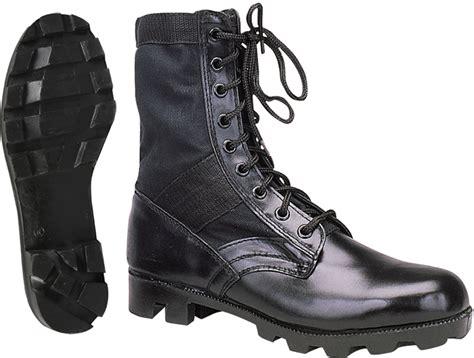 black leather jungle boots ebay