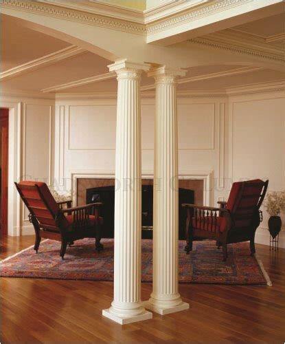 interior home columns interior decorative doric wood columns this