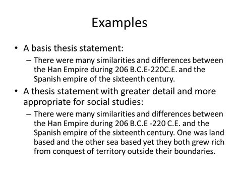 thesis statement translation spanish thesis statements in social studies ppt video online