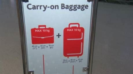what is the allowed carry on bag and check in baggage rate carry on crackdown cbc news latest canada world