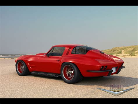 Image Gallery 1966 Red Corvette