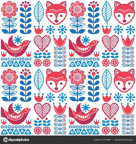 nordic pattern illustrator scandinavian seamless folk art pattern finnish design