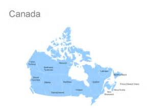 editable canada powerpoint map for canada ppt