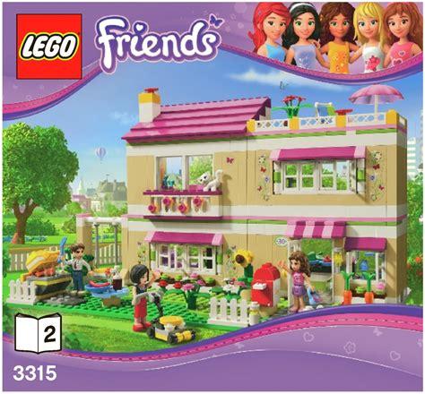 lego friends huis olivia lego olivia s house instructions 3315 friends