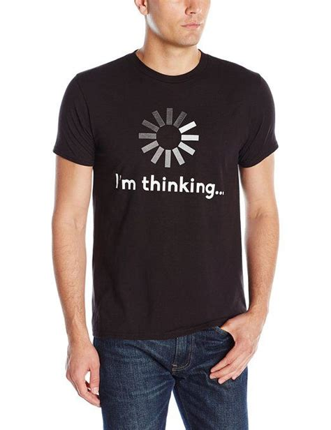 Tees Black Karambol D C t shirt i m thinking black by hanes s more