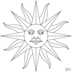 dibujo de inti el dios del sol de los incas para