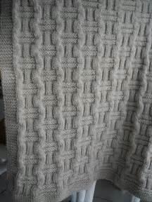 patron tricot couverture torsade