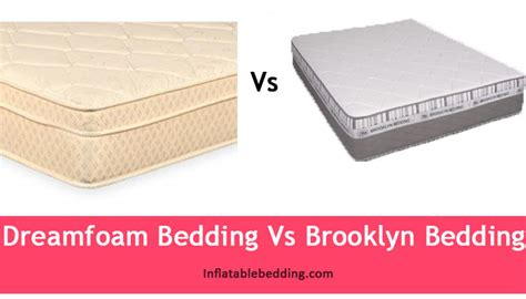 dreamfoam bedding dreamfoam bedding vs brooklyn bedding which is right for you inflatable bedding