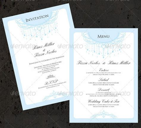 menu card template photoshop wedding menu card templates free matik for