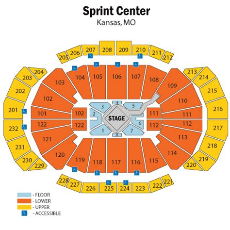 sprint center floor plan sprint center seating