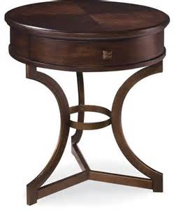 a r t furniture intrigue round end table transitional side tables and end tables by