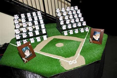 how to make event escort cards three variations kin diy sports theme bar mitzvah party ideas baseball stadium