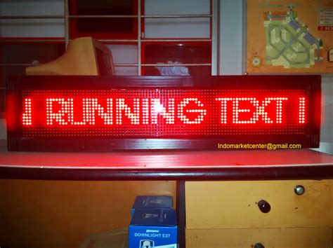 Lu Led Running Text jual led running text moving sign indomarket center