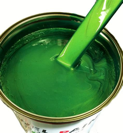 Green Paint by Polyester Basecoat Emerald Green Pearl Emerald Green 163