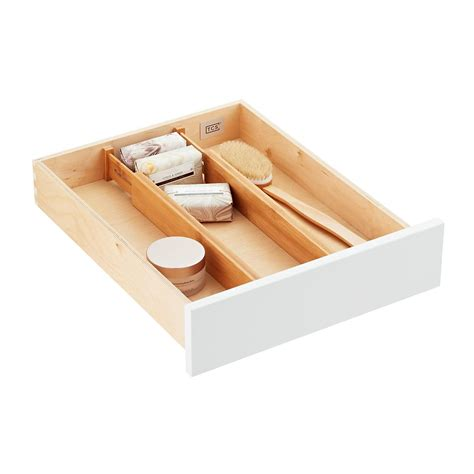 Tension Drawer Dividers by Bamboo Drawer Organizers The Container Store