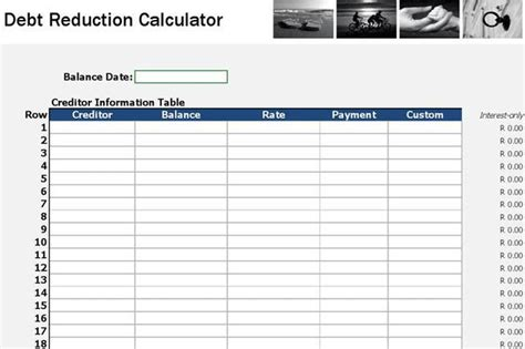 Calculator Spreadsheet Download Free Premium Templates Forms Sles For Jpeg Png Pdf Debt Reduction Template