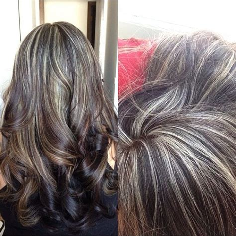 camouflaging gray hair with highlights black asian hair with blonde highlights and ombr 233 hair