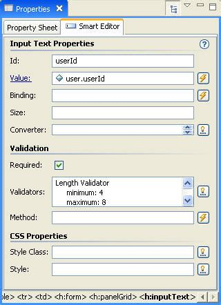 pattern validation jsf topic title